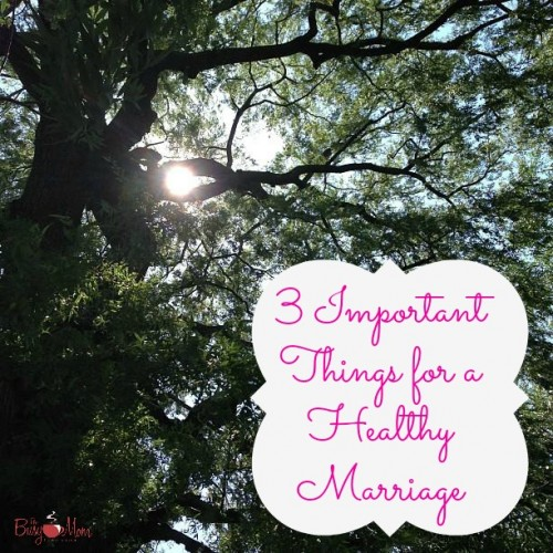 3 Important Things for a Healthy Marriage