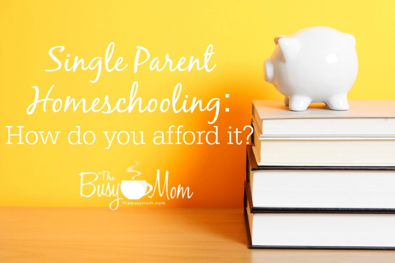 Affording to homeschool as a single parent