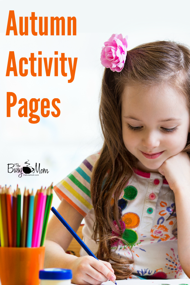 Autumn Activity Pages The Busy Mom (2)
