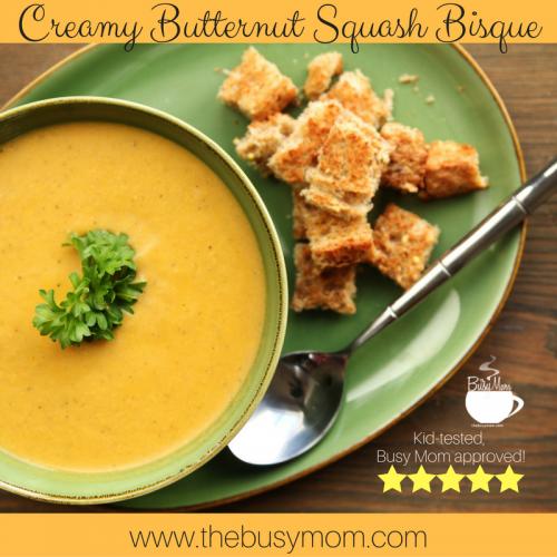 Creamy Butternut Squash Bisque