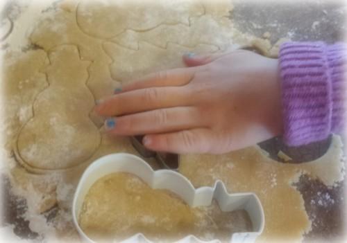 Christmas cookies with Alahna's hand