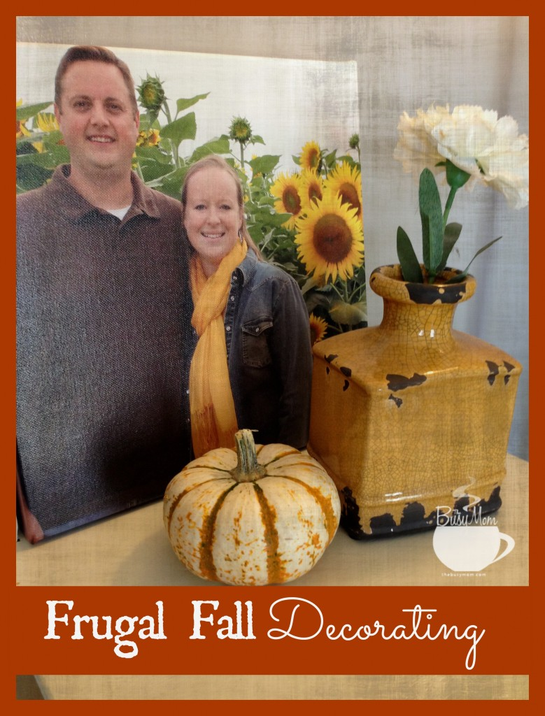 Frugal Fall Decorating @thebusymom.com