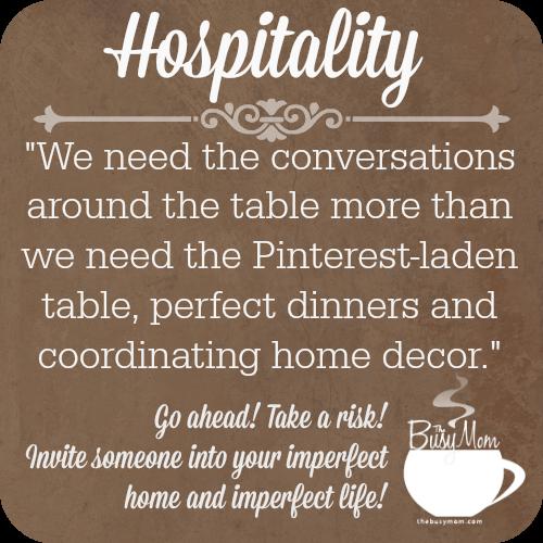 Hospitality @thebusymom.com