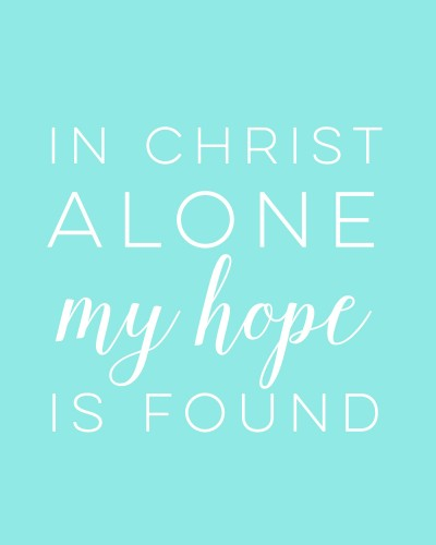 In Christ Alone TheBusyMom.com