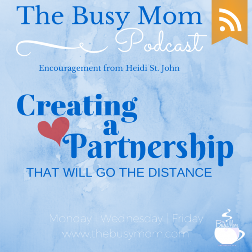 Do you have a sense of shared mission with your spouse? If not, you're missing out on one of the best parts of marriage! Listen in as Heidi talks about creating a partnership with your husband that will go the distance.