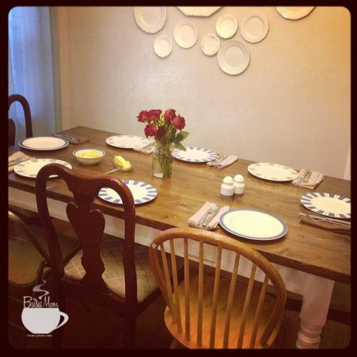 My not-perfect table @thebusymom.com