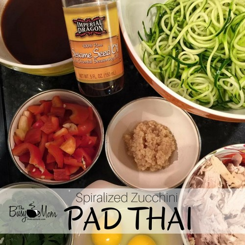 Pad Thai with Zucchini Noodles (Kids love it too!)