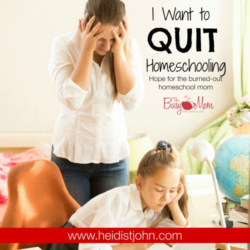 Hope for the burned out homeschool mom from Heidi St. John