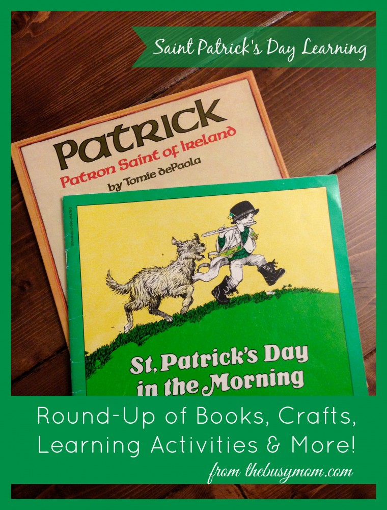 Saint Patrick's Day Learning from thebusymom.com
