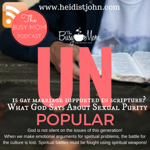 Christians in this generation are facing a full-blown spiritual identity crisis. We must be set apart from the patterns of this world, and we will either choose to follow God's Word or reject it. Join Heidi St. John as she talks about this very important topic.