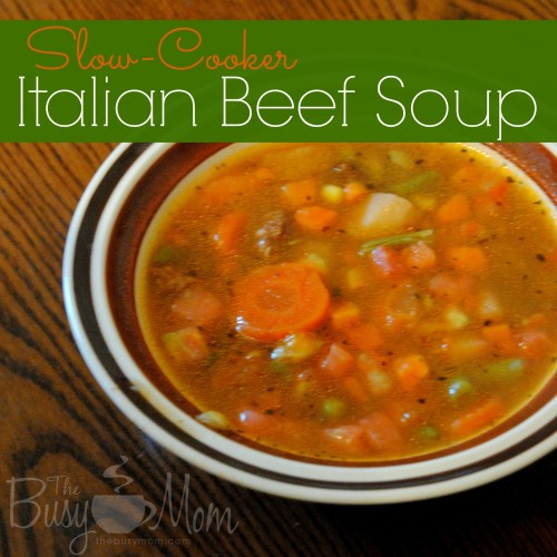 Slow Cooker Italian Beef Soup
