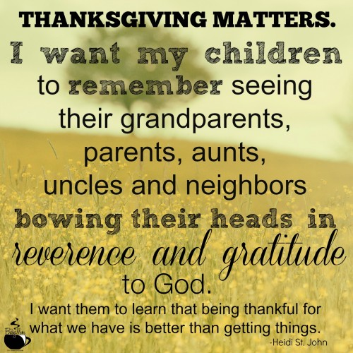 ThanksgivingMatters