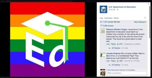 US Dept of Education makes their position on homosexuality clear