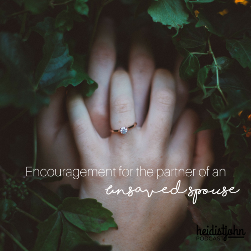 Join Heidi for some encouragement about how to live {happily} with your unbelieving husband
