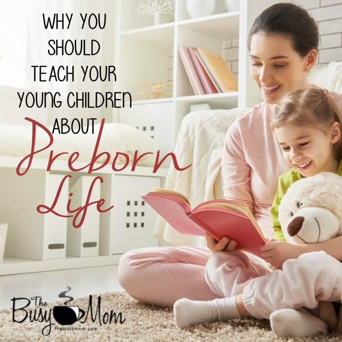 Why You Should Teach Your Young Children About Preborn Life