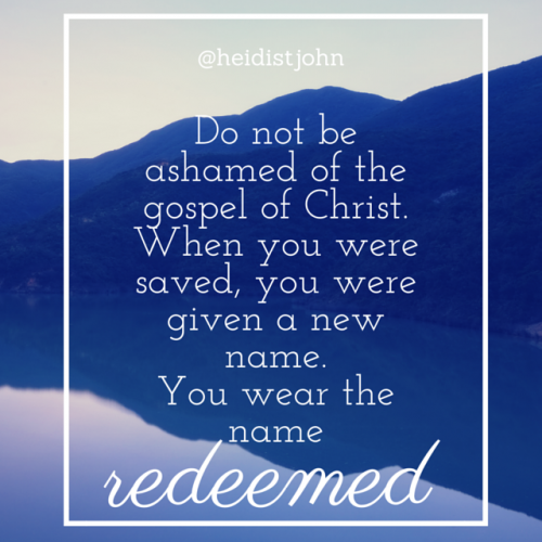 "We often worry that if we speak for the truth of the Bible, we will be labeled—but if you claim the name of Christ, you've already been labeled! You wear the label, ""redeemed!"" Let the redeemed of the Lord speak out! Psalm 104:7"
