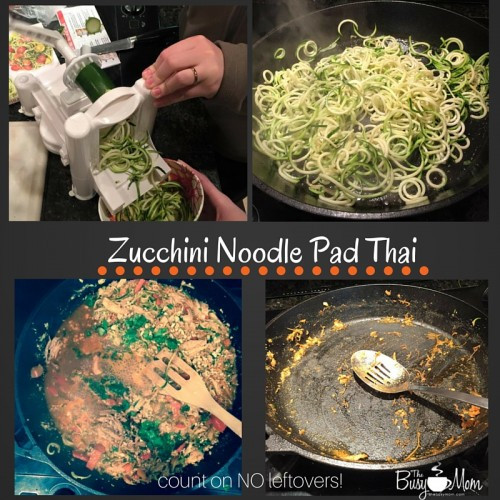 Zucchini noodle pad thai that your whole family will love!