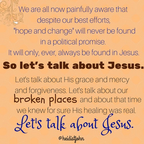 Let's talk about Jesus!