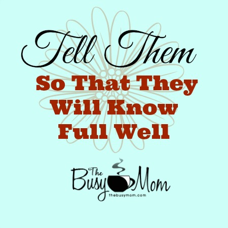 tell them