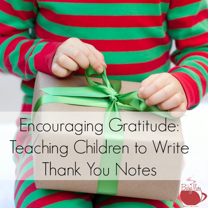 teach kids to write thank you notes