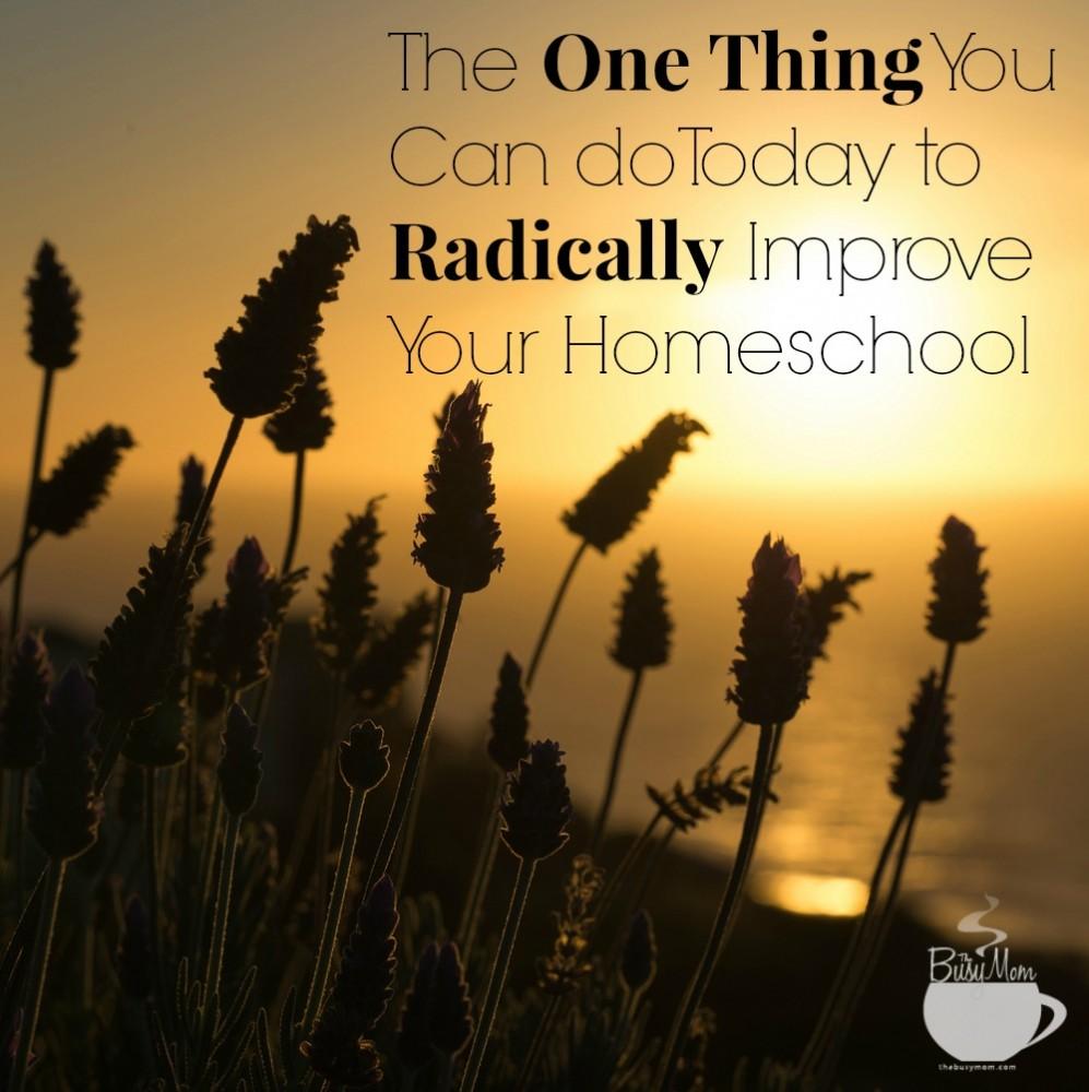 improve your homeschool