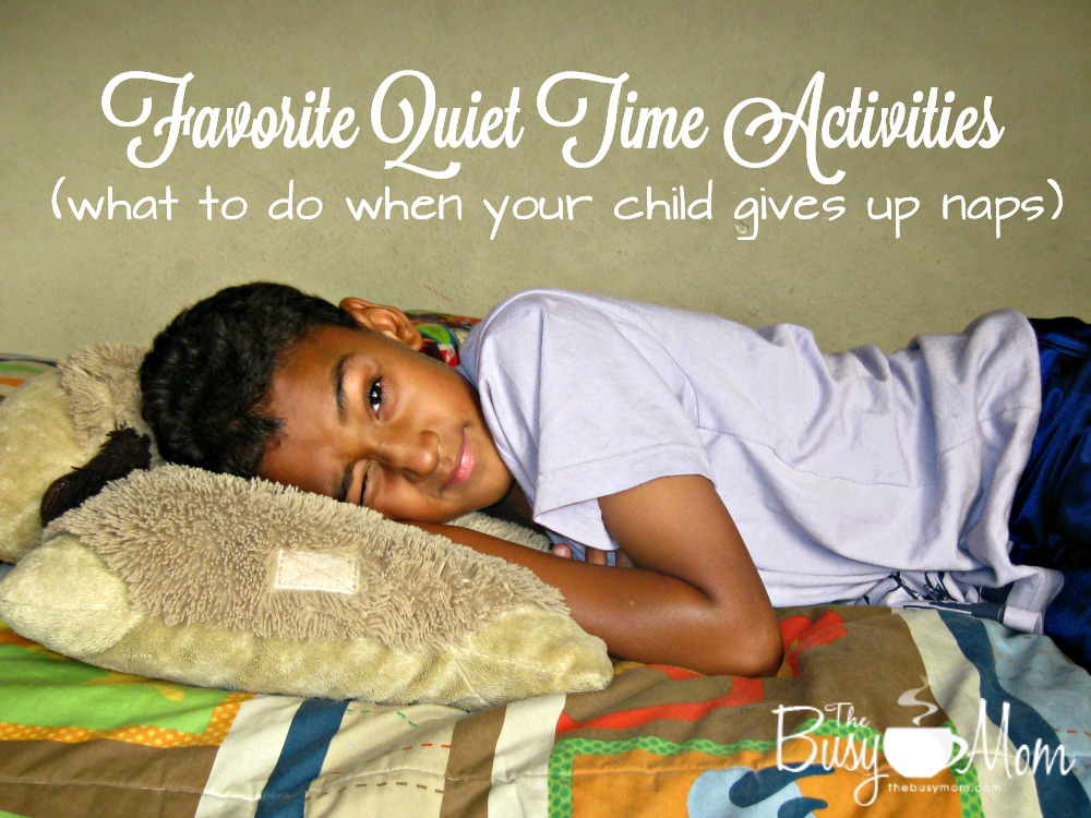 If your child has given up naps this list of activities is great way to transition to quiet time!